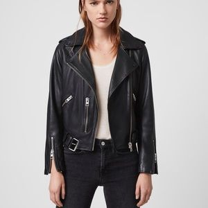 All Saints Balfern leather jacket